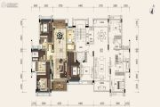 雅居乐小院流溪4室2厅2卫148平方米户型图
