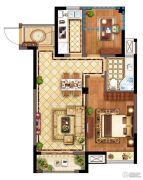 广宇・锦澜公寓2室2厅1卫72平方米户型图