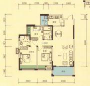 品湖居3室2厅2卫110平方米户型图