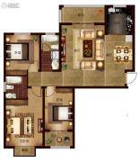 帕堤欧3室2厅2卫129平方米户型图