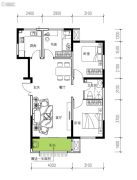 民生城・逸兰汐3室2厅1卫96平方米户型图