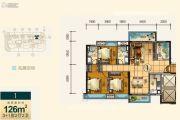 奥园1号4室2厅2卫126平方米户型图