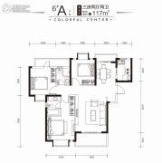 印力中心3室2厅2卫117平方米户型图