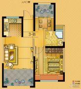 中南世纪城2室2厅1卫67平方米户型图
