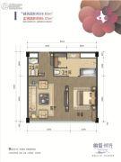 峨眉・时光1室1厅1卫58--86平方米户型图