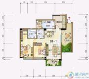 雅居乐十里花巷2室2厅2卫120平方米户型图