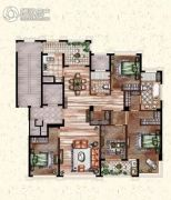莲桥府4室2厅2卫199平方米户型图