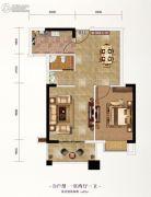 长投珑庭1室2厅1卫63平方米户型图