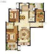 升龙又一城3室2厅2卫122平方米户型图