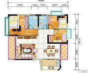 锦绣花园3室2厅2卫108平方米户型图