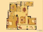中南世纪花城3室2厅2卫138平方米户型图