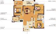 塞纳国际4室2厅2卫114平方米户型图