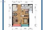 保利锦江里2室1厅1卫66平方米户型图
