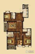 海峡城4室2厅3卫201平方米户型图