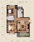 现代滏阳原著2室1厅1卫102平方米户型图