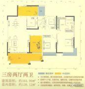 人和春天花园3室2厅2卫150--170平方米户型图