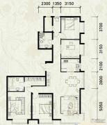富力津门湖5室2厅2卫184平方米户型图