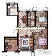 东港第3室2厅1卫103平方米户型图