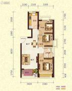 恒大御景半岛3室2厅2卫99平方米户型图