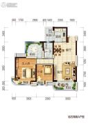 碧桂园十里银滩2室2厅1卫0平方米户型图