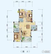 中铁・世纪山水3室2厅2卫132平方米户型图