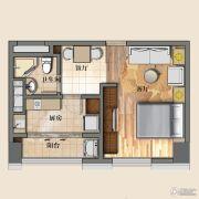 开封国际金融中心1室2厅1卫57平方米户型图