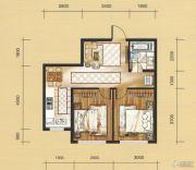 国茂清华园2室1厅1卫63平方米户型图