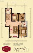 禧福 荷堂3室2厅1卫112--114平方米户型图