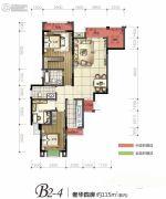 旭阳台北城敦美里4室2厅2卫115平方米户型图