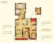 宁波新城吾悦广场3室2厅2卫108平方米户型图