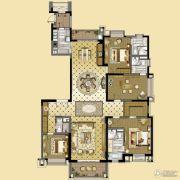 雅居乐中心广场4室3厅4卫267平方米户型图