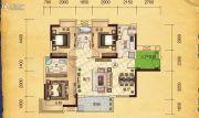 合汇学府名郡3室2厅2卫110平方米户型图