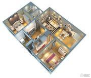 证大大拇指广场3室2厅1卫89平方米户型图