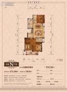 丽江半岛3室2厅2卫111平方米户型图