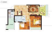 南海幸福汇1室2厅1卫63平方米户型图