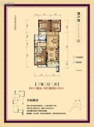 中港罗兰小镇3室2厅2卫89平方米户型图