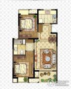 金浦御龙湾2室2厅1卫86平方米户型图