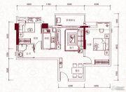 嘉兰轩2室2厅1卫79平方米户型图