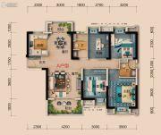 襄阳碧桂园4室2厅2卫132平方米户型图