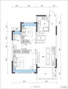 尚�Z瑞府2室2厅1卫85平方米户型图