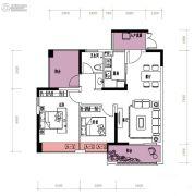 润城・双璧湾3室2厅1卫98平方米户型图