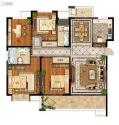 天地源拾锦香都4室2厅2卫162平方米户型图