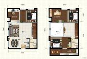 新都汇・二期3室2厅2卫80平方米户型图