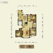 银基银河丽湾3室2厅2卫160平方米户型图