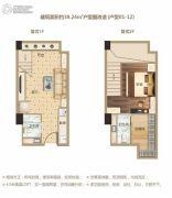 洋湖时代广场1室1厅1卫39平方米户型图