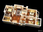 燕南山庐4室2厅2卫126平方米户型图