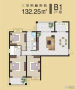 随州齐星花园3室2厅2卫132平方米户型图