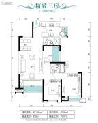 朗宁郡3室2厅2卫106平方米户型图