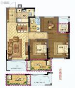 众安学君里3室2厅1卫59平方米户型图