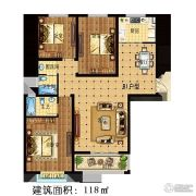 林溪湾3室2厅2卫118平方米户型图